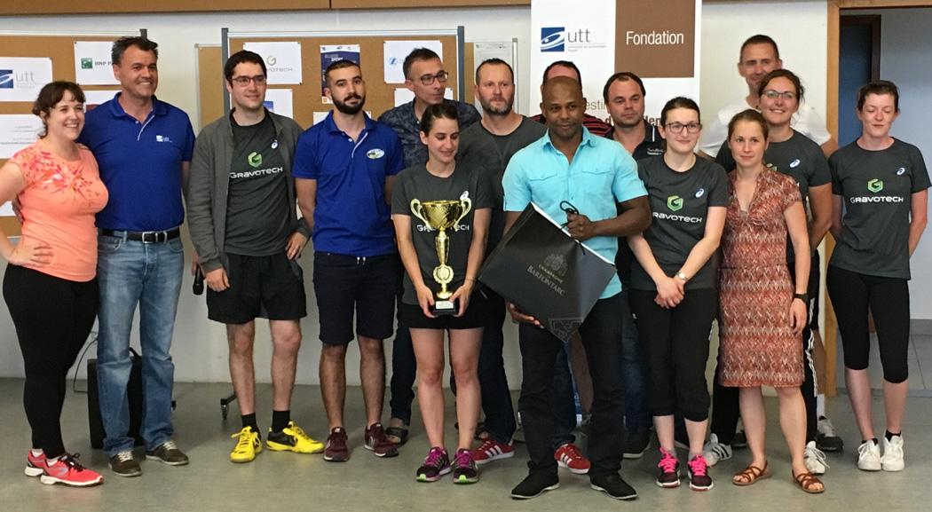 Gravotech remporte le challenge badminton et LDR Médical groupe Zimmer Biomet le challenge escalade
