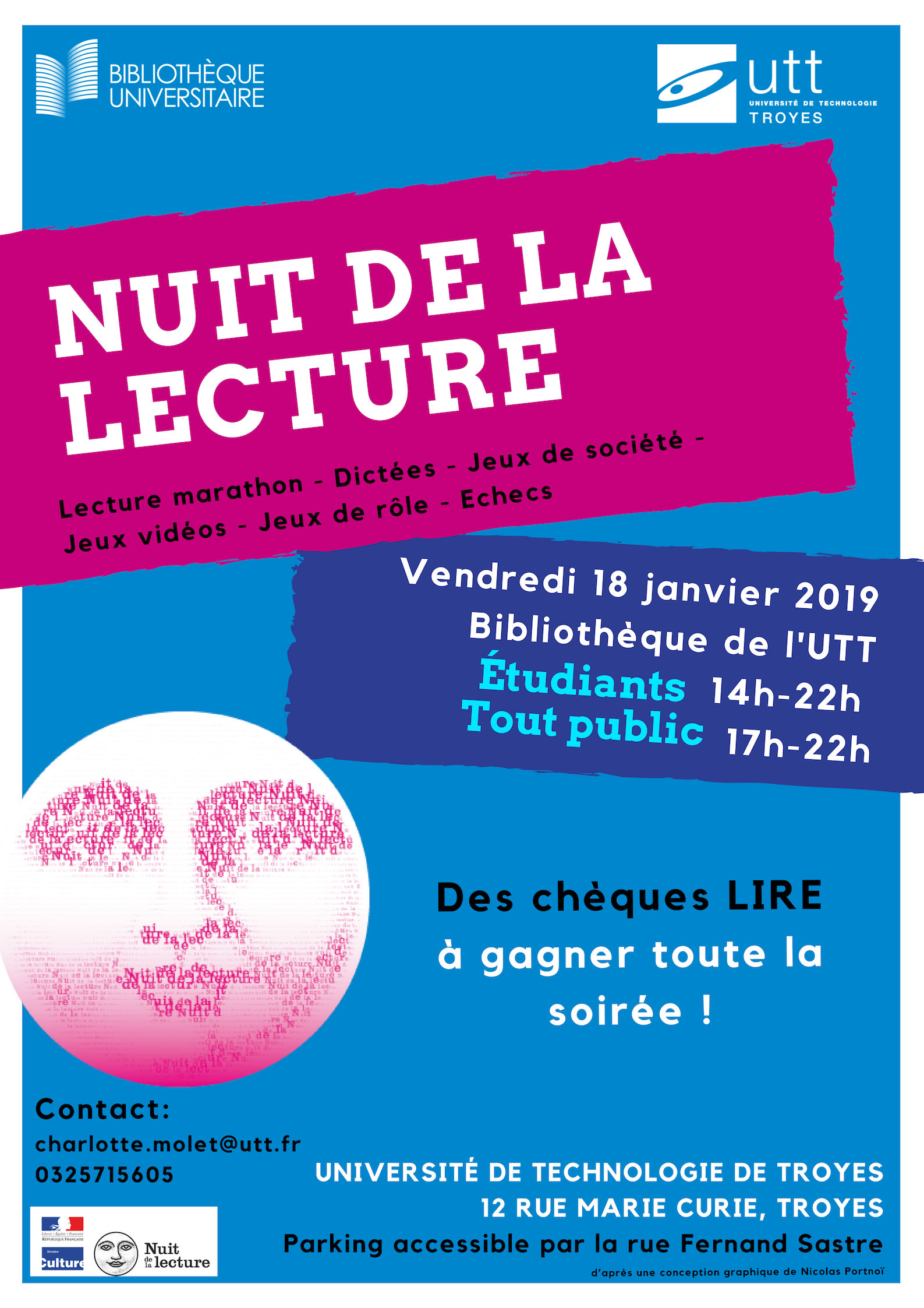 nuit lecture UTT