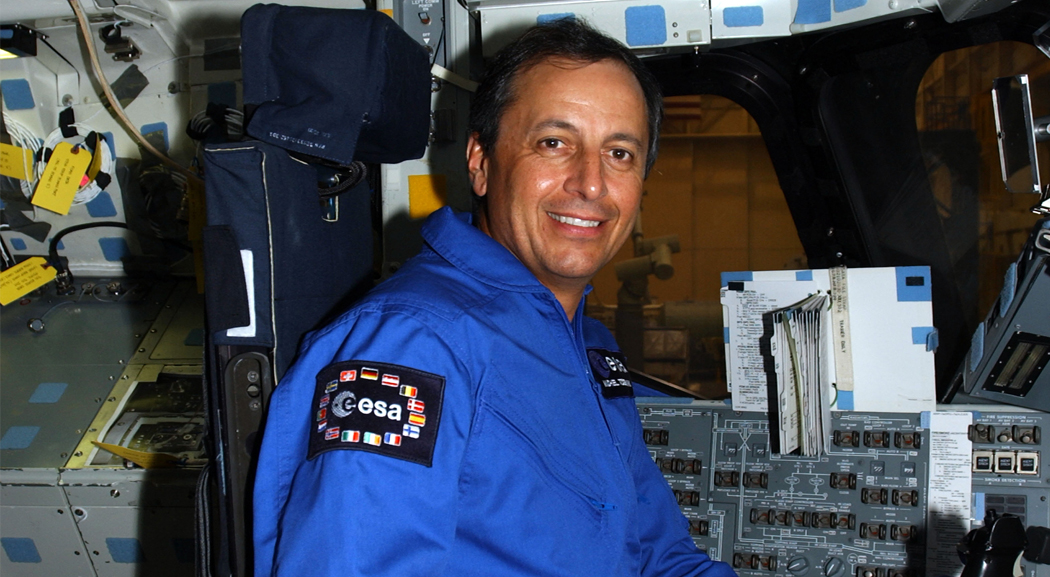 Michel Tognini during training in Houston (ESA)